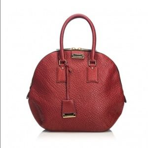 Burberry Orchard Red Leather Handbag